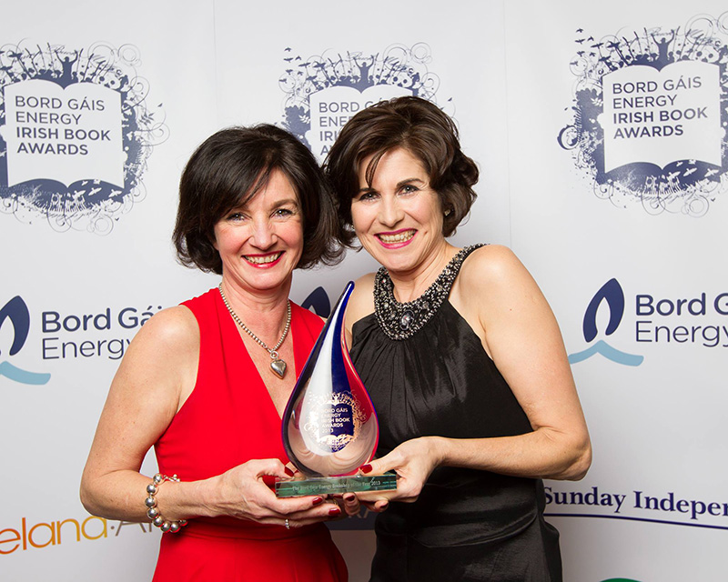 Nicole & Máire at the Bord Gais Energy Irish Book Awards where the Clifden Bookshop won Bookshop of the Year in 2013.